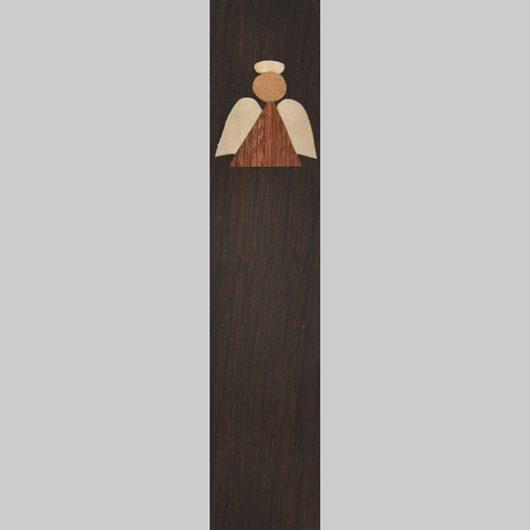 ročno izdelana lesena knjižna kazalka z motivom angelčka