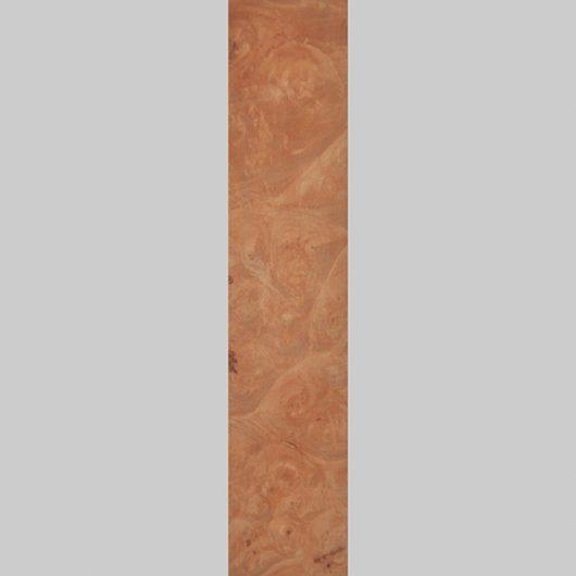 ročno izdelana lesena knjižna kazalkav barvi javorove korenine