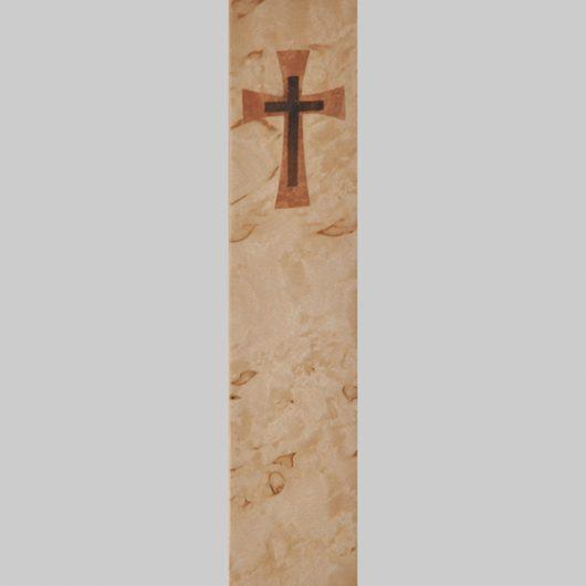 ročno izdelana lesena knjižna kazalka z motivom križa