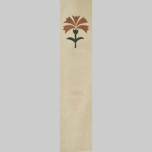 ročno izdelana lesena knjižna kazalka z motivom naglja