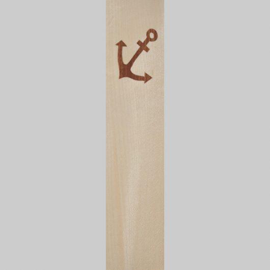 ročno izdelana lesena knjižna kazalka z motivom sidra