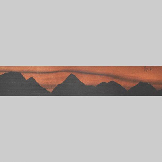 ročno izdelana lesena knjižna kazalka s panoramo Špika
