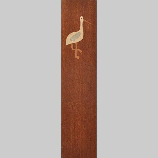 ročno izdelana lesena knjižna kazalka z motivom Štorklje