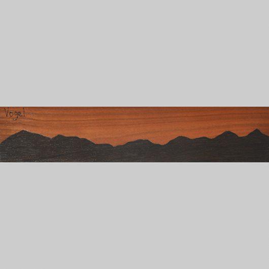ročno izdelana lesena knjižna kazalka s panoramo Vogla