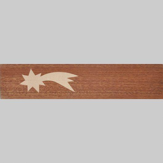 ročno izdelana lesena knjižna kazalka z motivom zvezde repatice